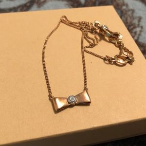 Henri Bendel Gold Bow Necklace
